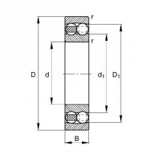 60 mm x 130 mm x 46 mm  FAG 2312-TVH self aligning ball bearings #3 image
