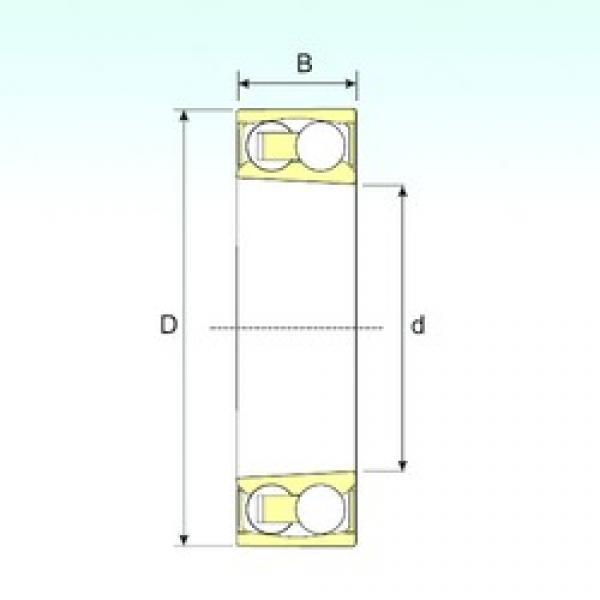 60 mm x 110 mm x 28 mm  ISB 2212-2RSKTN9 self aligning ball bearings #3 image