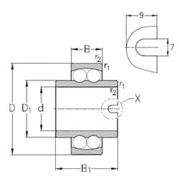 45 mm x 85 mm x 58 mm  NKE 11209 self aligning ball bearings #3 image