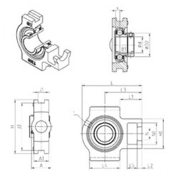 SNR EST211 bearing units #3 image