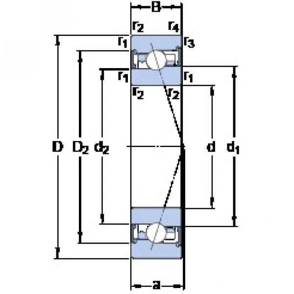 55 mm x 90 mm x 18 mm  SKF S7011 FW/HC angular contact ball bearings #3 image