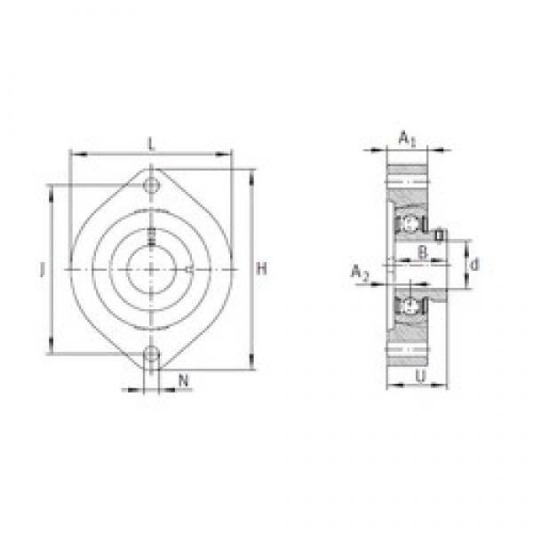 INA FLCTEY25 bearing units #3 image