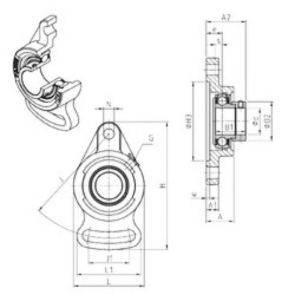 SNR ESFAE204 bearing units #3 image