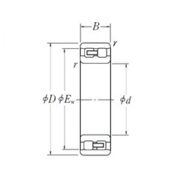 105 mm x 160 mm x 41 mm  NSK NN 3021 cylindrical roller bearings #3 image