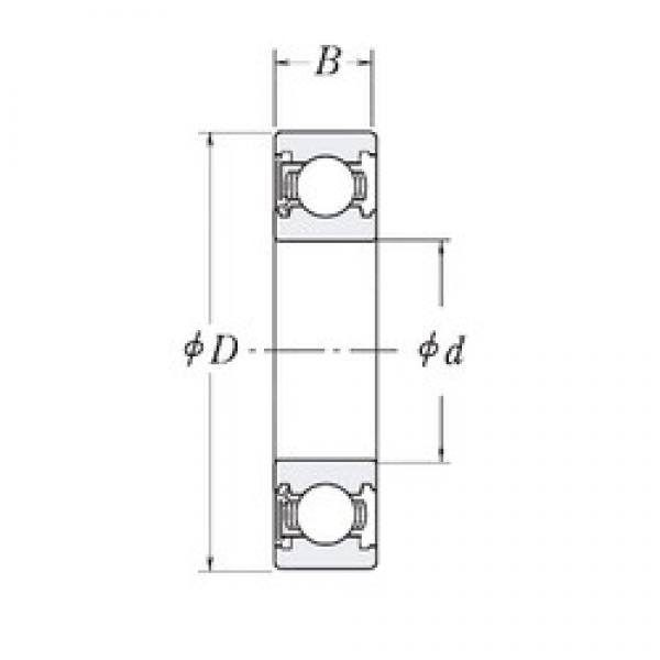 25,4 mm x 63,5 mm x 19,05 mm  RHP MJ1-RS deep groove ball bearings #3 image