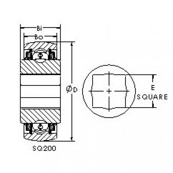 AST SQ208-100X deep groove ball bearings #3 image