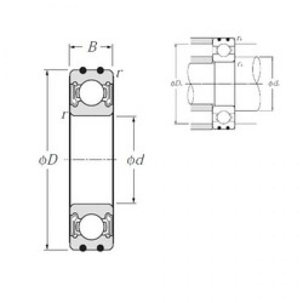 30 mm x 55 mm x 13 mm  NTN AC-6006LLB deep groove ball bearings #3 image