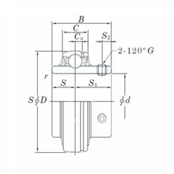 25 mm x 52 mm x 34,1 mm  KOYO UC205S6 deep groove ball bearings #3 image