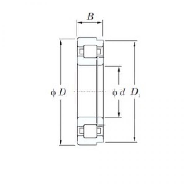 85 mm x 210 mm x 52 mm  KOYO NUP417 cylindrical roller bearings #3 image
