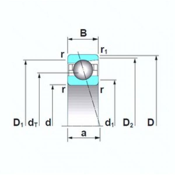 105 mm x 190 mm x 36 mm  NSK 7221CTRSU angular contact ball bearings #3 image