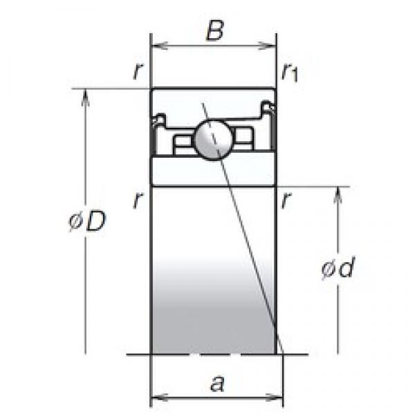 100 mm x 150 mm x 30 mm  NSK 100BER20HV1V angular contact ball bearings #3 image