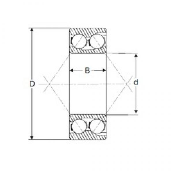 40 mm x 110 mm x 49,21 mm  SIGMA 5408 angular contact ball bearings #3 image