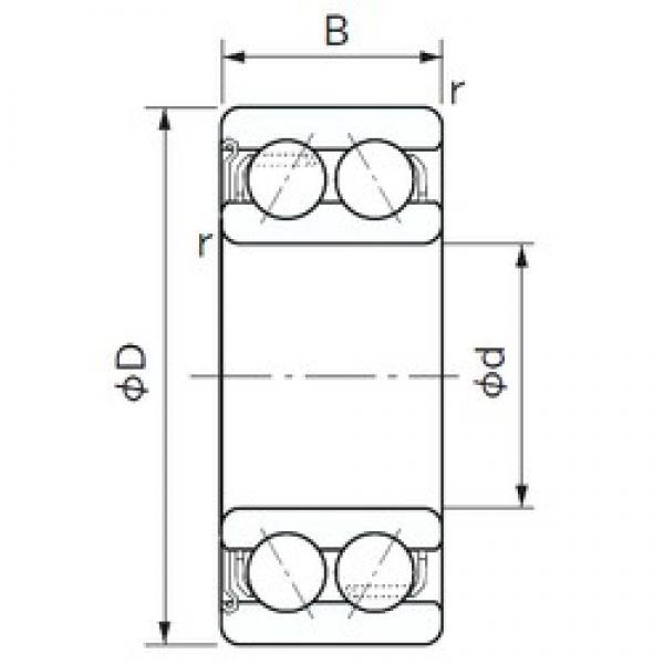75 mm x 130 mm x 41.3 mm  NACHI 5215Z angular contact ball bearings #3 image