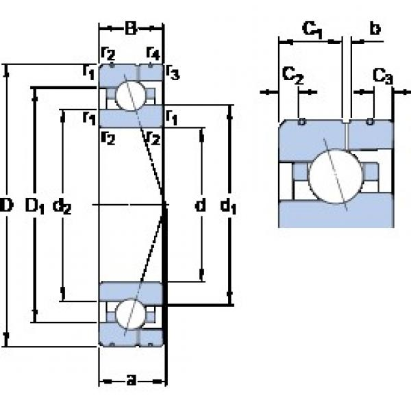 70 mm x 110 mm x 20 mm  SKF 7014 ACE/HCP4AL angular contact ball bearings #3 image