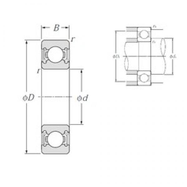 45 mm x 100 mm x 25 mm  NTN 6309LLU deep groove ball bearings #3 image