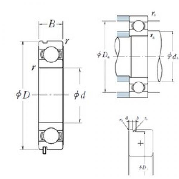 95 mm x 170 mm x 32 mm  NSK 6219N deep groove ball bearings #3 image