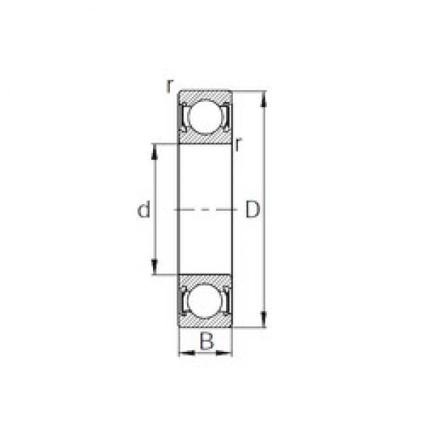 40 mm x 52 mm x 7 mm  CYSD 6808-2RS deep groove ball bearings #3 image