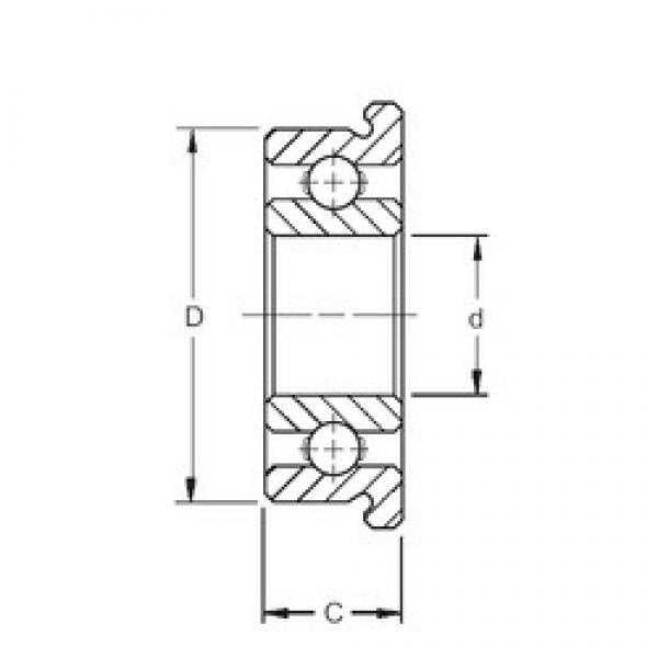 7 mm x 17 mm x 5 mm  ZEN SF697 deep groove ball bearings #3 image