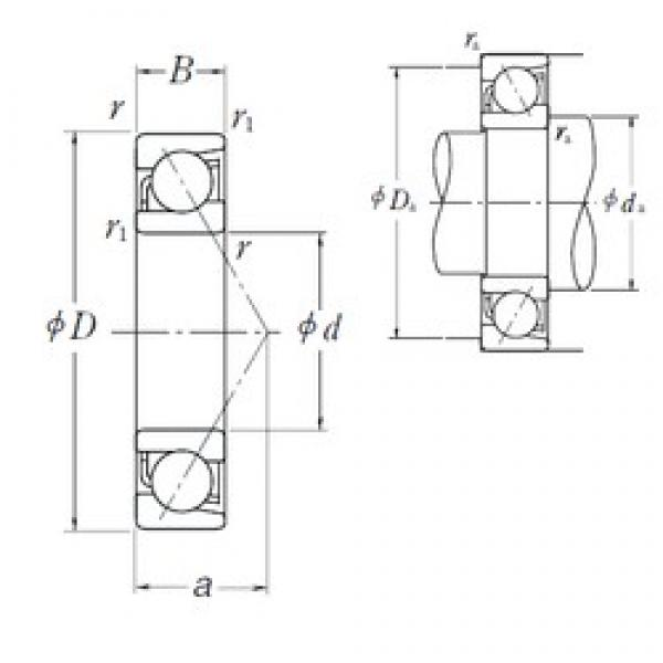 12 mm x 28 mm x 8 mm  NSK 7001 C angular contact ball bearings #3 image