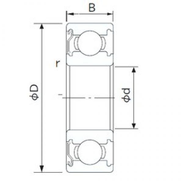 105 mm x 160 mm x 26 mm  CYSD 6021-Z deep groove ball bearings #3 image