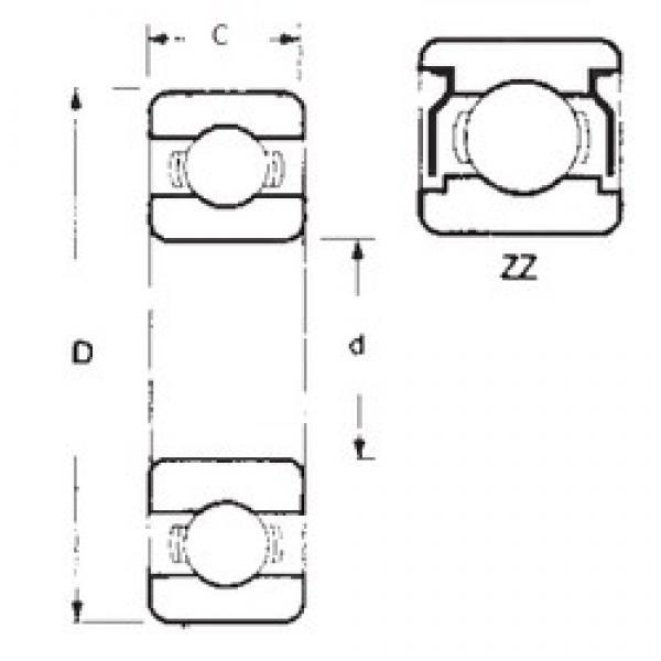 17 mm x 26 mm x 5 mm  FBJ 6803ZZ deep groove ball bearings #3 image