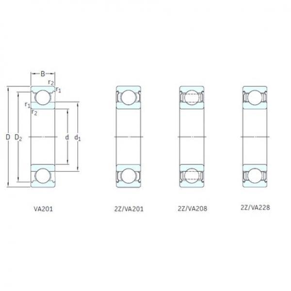 60 mm x 110 mm x 22 mm  SKF 6212/VA201 deep groove ball bearings #3 image