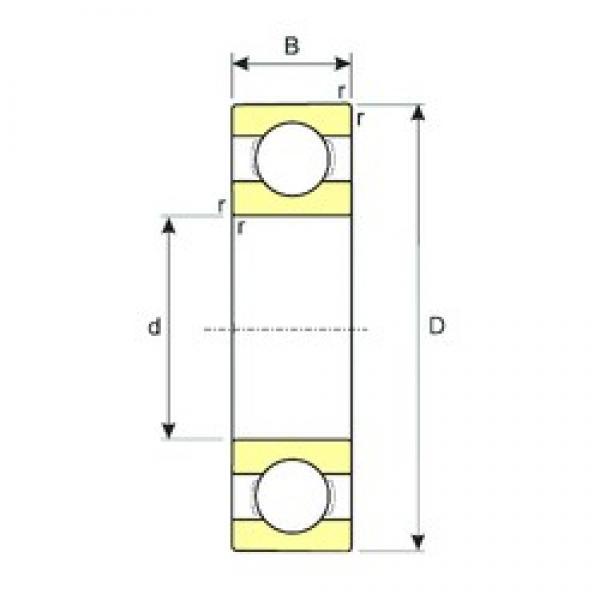 40 mm x 90 mm x 23 mm  ISB 6308 deep groove ball bearings #3 image