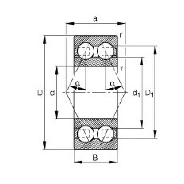 45 mm x 100 mm x 39,7 mm  FAG 3309-BD-TVH angular contact ball bearings #3 image