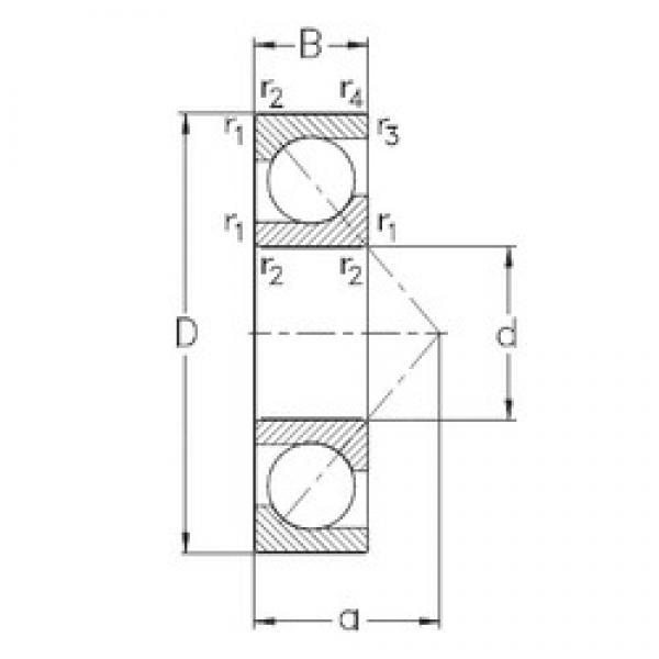 220 mm x 400 mm x 65 mm  NKE 7244-B-MP angular contact ball bearings #3 image