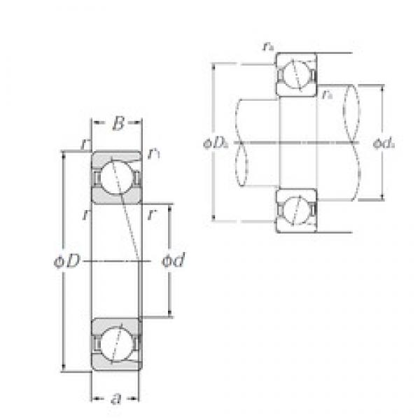 60 mm x 130 mm x 31 mm  NTN 7312 angular contact ball bearings #3 image