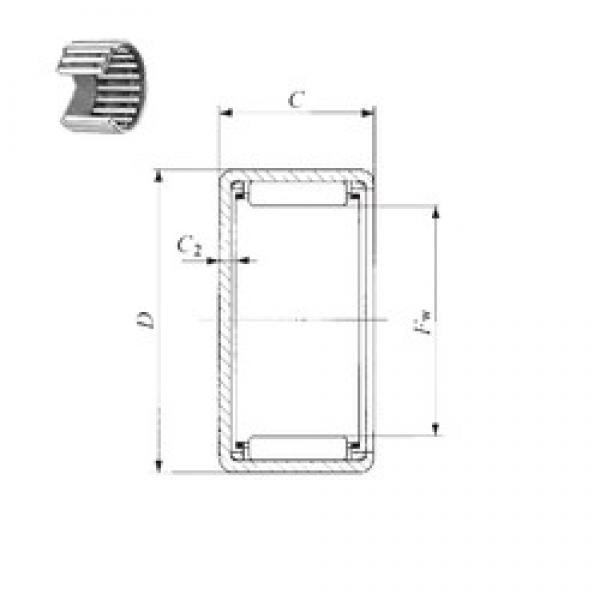 IKO BAM 4416 needle roller bearings #3 image