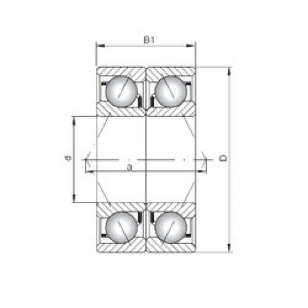 ISO 71913 CDB angular contact ball bearings #3 image