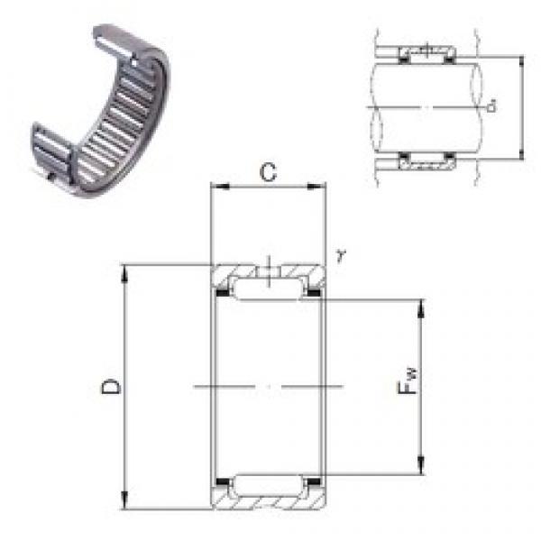 JNS NK30/30 needle roller bearings #3 image