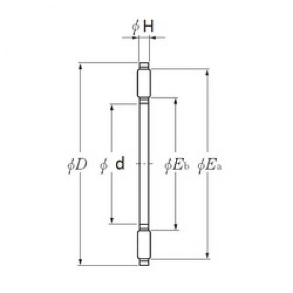 NTN AXK1101 needle roller bearings #3 image