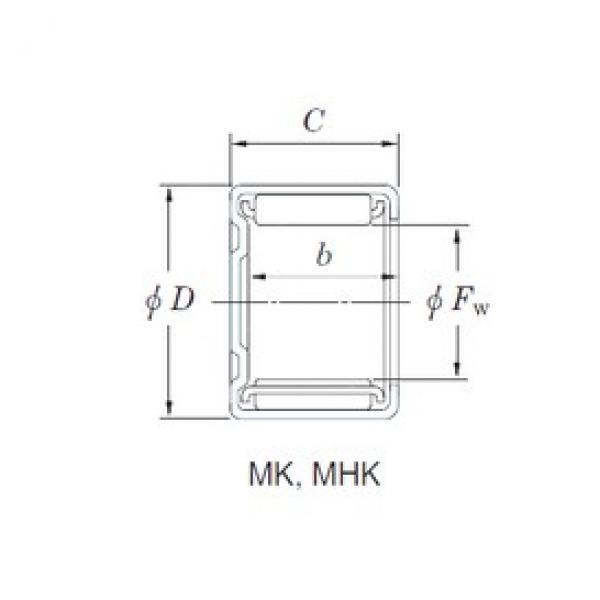 KOYO MK1671 needle roller bearings #3 image