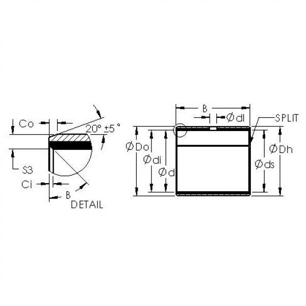 AST AST40 2815 plain bearings #3 image