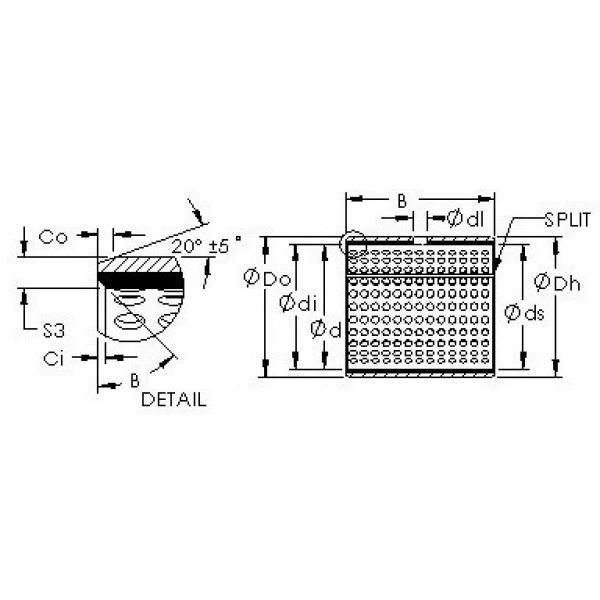 AST AST20  06IB08 plain bearings #3 image