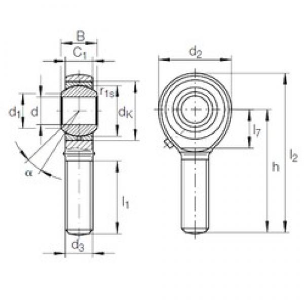 6 mm x 16 mm x 9 mm  INA GAKFL 6 PB plain bearings #3 image
