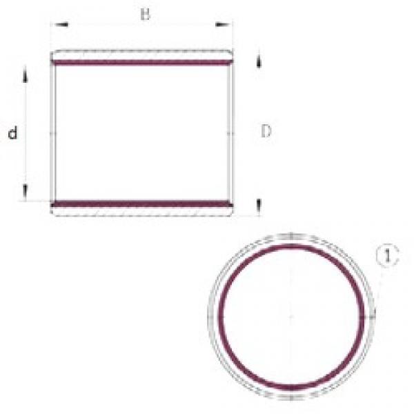 22 mm x 25 mm x 15 mm  INA EGB2215-E40 plain bearings #3 image