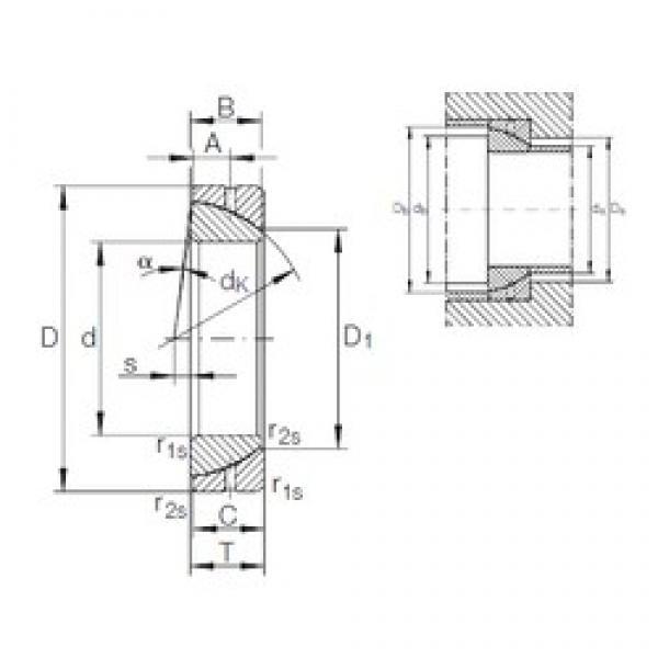 45 mm x 75 mm x 19 mm  INA GE 45 SX plain bearings #3 image