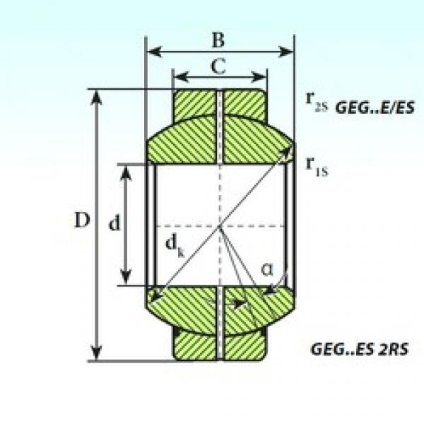 240 mm x 370 mm x 190 mm  ISB GEG 240 ES plain bearings #3 image