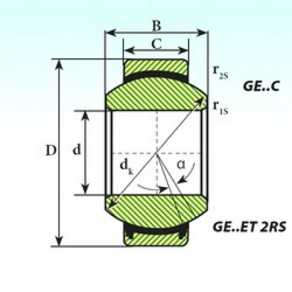 160 mm x 230 mm x 105 mm  ISB GE 160 ET 2RS plain bearings #3 image