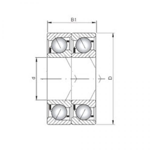 ISO 7204 BDT angular contact ball bearings #3 image