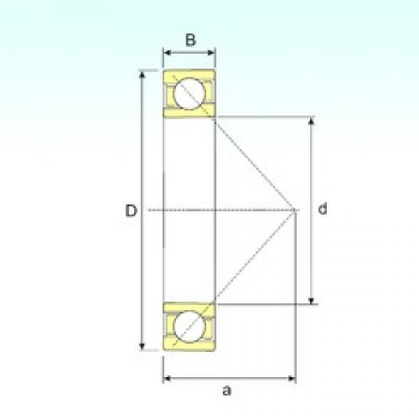 75 mm x 160 mm x 37 mm  ISB 7315 B angular contact ball bearings #3 image
